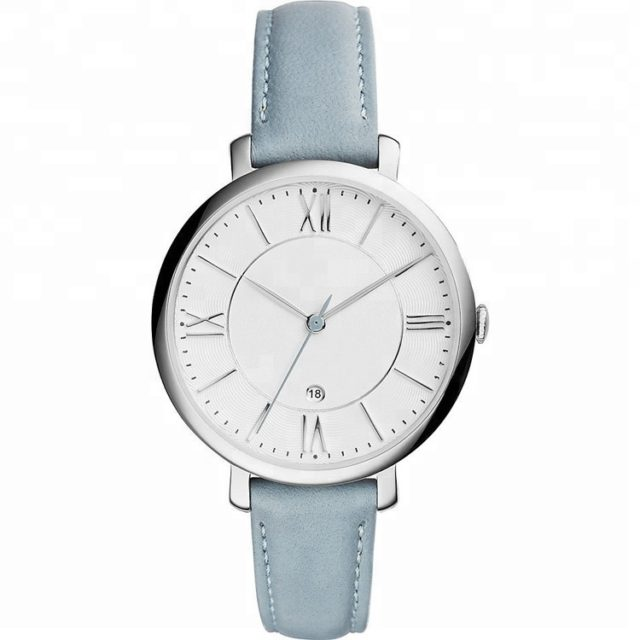 silver case roman numerals vintage watch