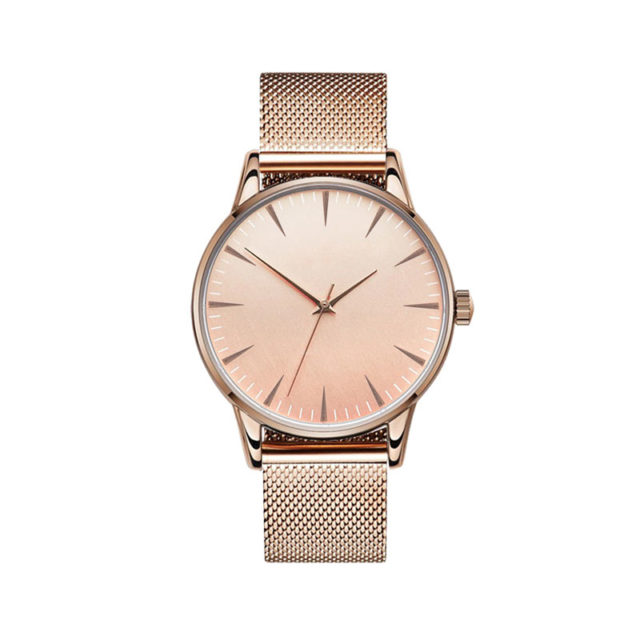 all rose gold steel mesh strap classic watch