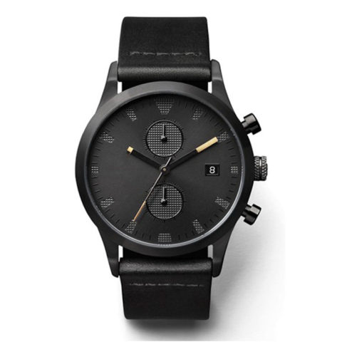 all black chronograph watch