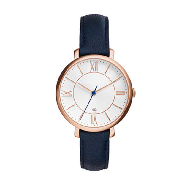 rose gold roman numerals vintage women's watch