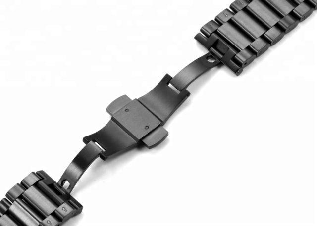 all black brushed watch bracelet band