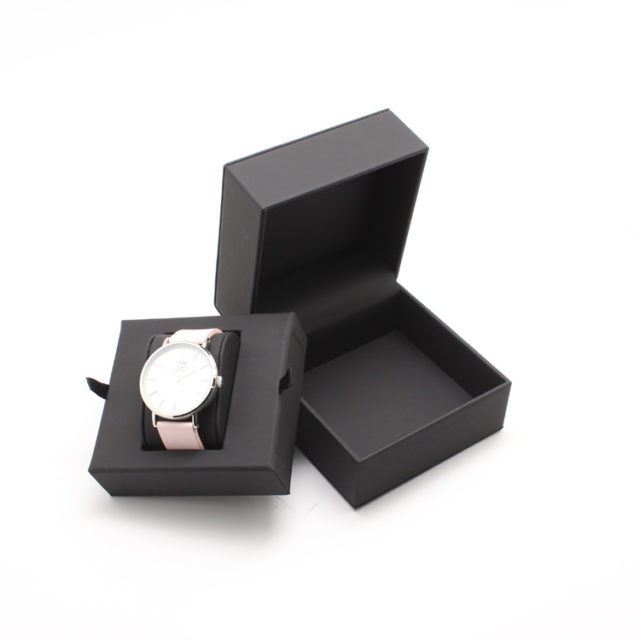leather box with watch