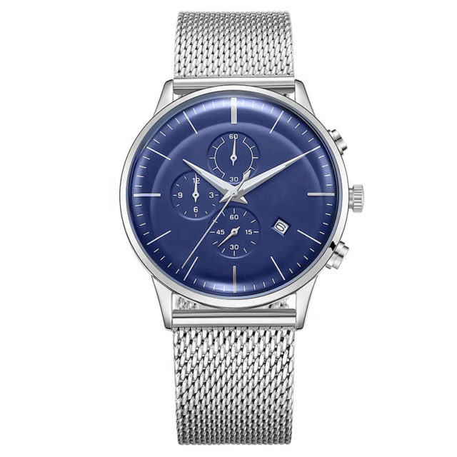 all stainless steel chronograph men watch