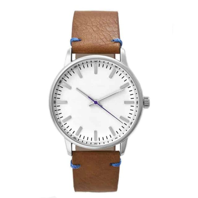 rosegold tan leather watch
