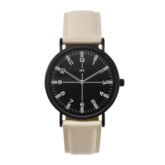 beige black watch